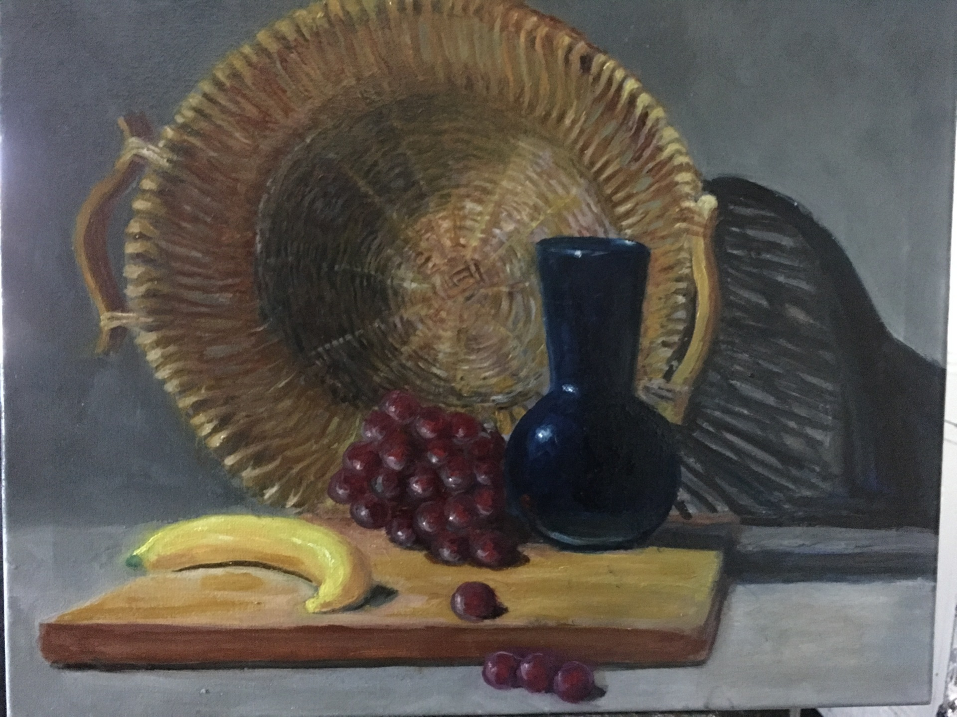 Still Life Basket & Fruit